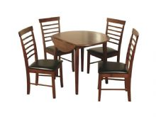 hanover round drop leaf table with 4 chars